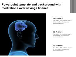 Powerpoint Template And Background With Meditations Over Savings Finance