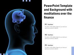 Powerpoint Template And Background With Meditations Over The Finance