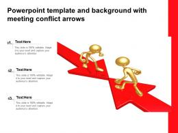 Powerpoint Template And Background With Meeting Conflict Arrows