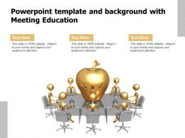 Powerpoint Template And Background With Meeting Education