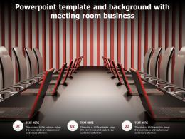 Powerpoint Template And Background With Meeting Room Business