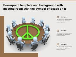 Powerpoint Template And Background With Meeting Room With The Symbol Of Peace On It