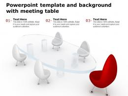 Powerpoint Template And Background With Meeting Table