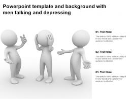 Powerpoint Template And Background With Men Talking And Depressing