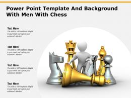 Powerpoint Template And Background With Men With Chess