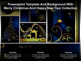 Powerpoint Template And Background With Merry Christmas And Happy New Year Collection