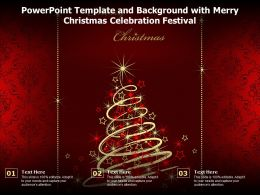 Powerpoint Template And Background With Merry Christmas Celebration Festival