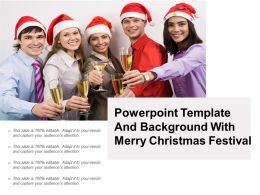 Powerpoint Template And Background With Merry Christmas Festival