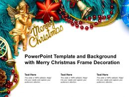Powerpoint Template And Background With Merry Christmas Frame Decoration