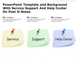 Powerpoint Template And Background With Messages On Post It Notes