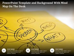 Powerpoint Template And Background With Mind Map On The Desk