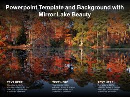 Powerpoint Template And Background With Mirror Lake Beauty