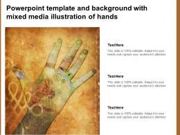 Powerpoint Template And Background With Mixed Media Illustration Of Hands