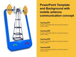 Powerpoint Template And Background With Mobile Antenna Communication Concept