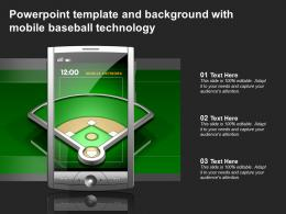 Powerpoint Template And Background With Mobile Baseball Technology