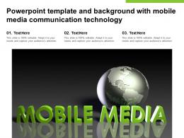 Powerpoint Template And Background With Mobile Media Communication Technology