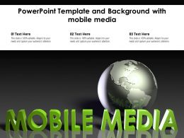 Powerpoint Template And Background With Mobile Media