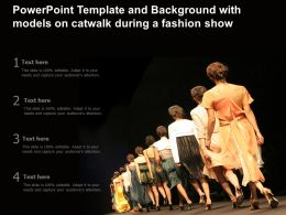 Powerpoint Template And Background With Models On Catwalk During A Fashion Show