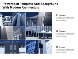 Powerpoint Template And Background With Modern Architecture