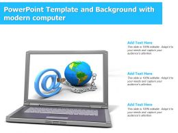 Powerpoint Template And Background With Modern Computer