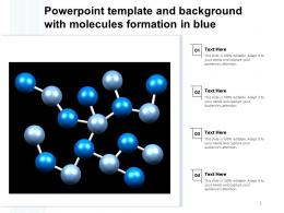 Powerpoint Template And Background With Molecules Formation In Blue