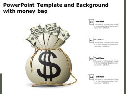 Powerpoint Template And Background With Money Bag