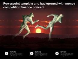 Powerpoint Template And Background With Money Competition Finance Concept