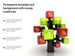 Powerpoint Template And Background With Money Credit Tree
