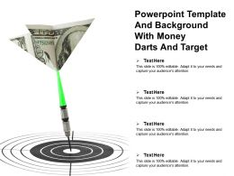 Powerpoint Template And Background With Money Darts And Target