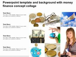 Powerpoint Template And Background With Money Finance Concept Collage