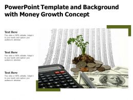 Powerpoint Template And Background With Money Growth Concept