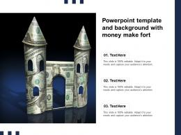 Powerpoint Template And Background With Money Make Fort