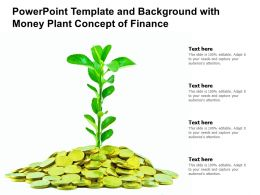 Powerpoint Template And Background With Money Plant Concept Of Finance