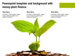 Powerpoint Template And Background With Money Plant Finance