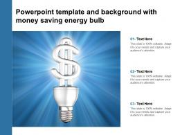 Powerpoint Template And Background With Money Saving Energy Bulb
