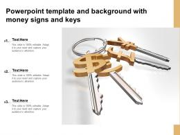 Powerpoint Template And Background With Money Signs And Keys