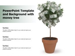 Powerpoint Template And Background With Money Tree