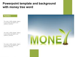 Powerpoint Template And Background With Money Tree Word