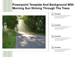 Powerpoint Template And Background With Morning Sun Shining Through The Trees