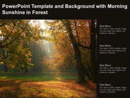Powerpoint Template And Background With Morning Sunshine In Forest