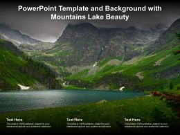 Powerpoint Template And Background With Mountains Lake Beauty