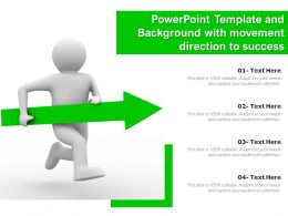 Powerpoint Template And Background With Movement Direction To Success