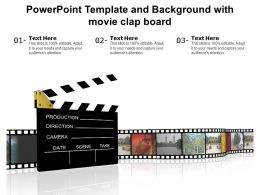 Powerpoint Template And Background With Movie Clap Board