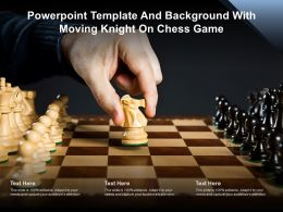 Powerpoint Template And Background With Moving Knight On Chess Game