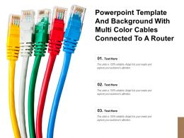 Powerpoint Template And Background With Multi Color Cables Connected To A Router