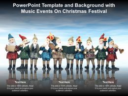Powerpoint Template And Background With Music Events On Christmas Festival