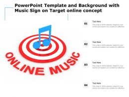 Powerpoint Template And Background With Music Sign On Target Online Concept