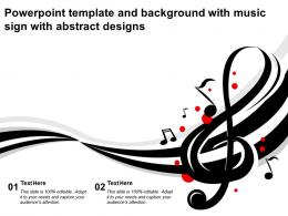 Powerpoint Template And Background With Music Sign With Abstract Designs