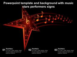 Powerpoint Template And Background With Music Stars Performers Signs