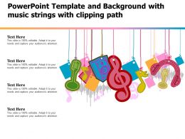 Powerpoint Template And Background With Music Strings With Clipping Path
